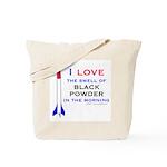 I Love Black Powder Tote Bag