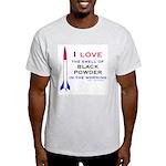 I Love Black Powder Ash Grey T-Shirt