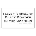 I Love Black Powder Rectangle Sticker