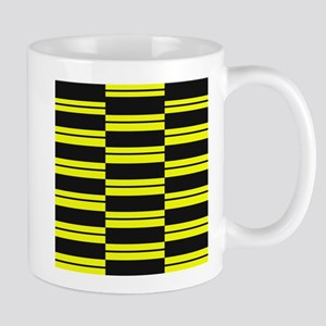 Black and Yellow Weave Mugs