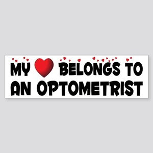 Belongs To An Optometrist Bumper Sticker