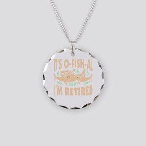 Retirement Necklace Circle Charm