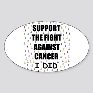 support the fight against cancer Oval Sticker