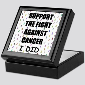 support the fight against cancer Keepsake Box