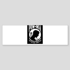 POW MIA Flag Bumper Sticker