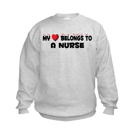 Belongs To A Nurse Kids Sweatshirt