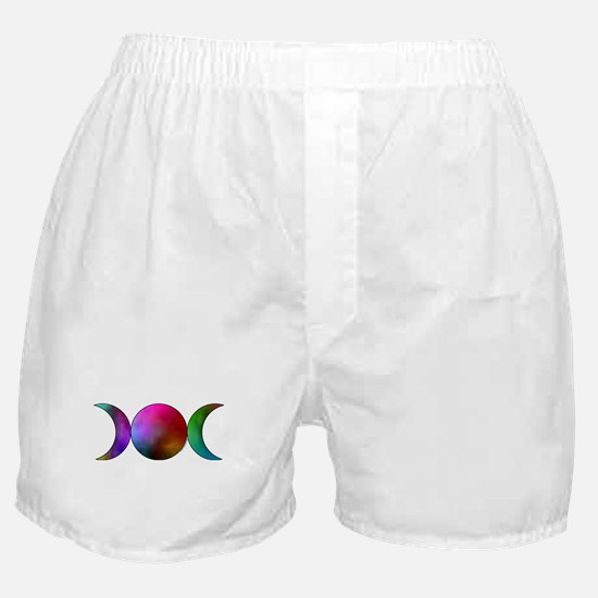 Watercolor Triple Moon Boxer Shorts