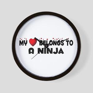 Belongs To A Ninja Wall Clock