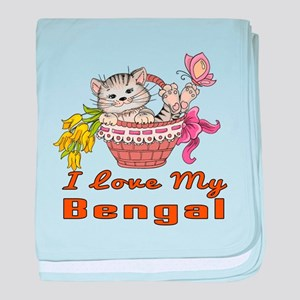 I Love My Bengal Designs baby blanket