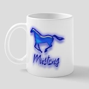 Galloping Blue Mustang Mug