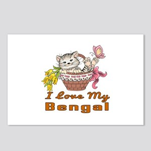 I Love My Bengal Designs Postcards (Package of 8)