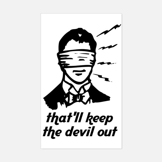 The Devil Rectangle Decal