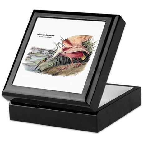 Audubon Spoonbill Bird Keepsake Box