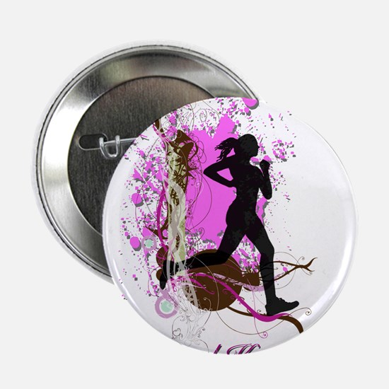 """I run like a girl, try and 2.25"""" Button (10 pack)"""