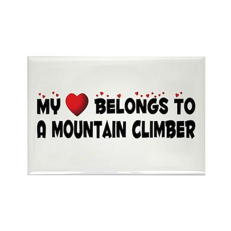 Belongs To A Mountain Climber Rectangle Magnet