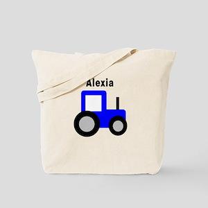 Alexia - Blue Tractor Tote Bag