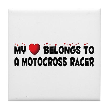Belongs To A Motocross Racer Tile Coaster