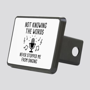 Not Knowing The Words Rectangular Hitch Cover