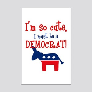 So Cute Democrat Mini Poster Print