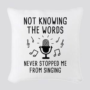 Not Knowing The Words Woven Throw Pillow