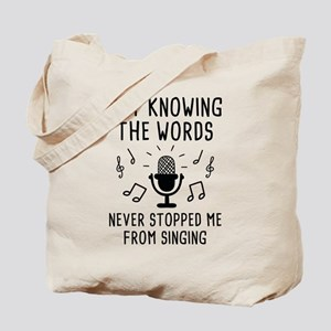 Not Knowing The Words Tote Bag
