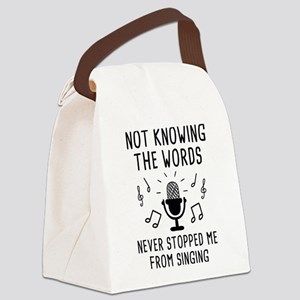 Not Knowing The Words Canvas Lunch Bag