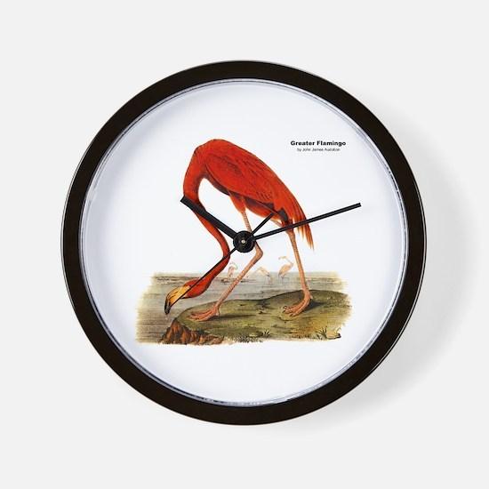 Audubon Flamingo Bird Wall Clock