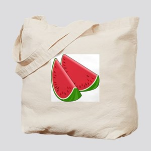 TWO WATERMELON SLICES Tote Bag