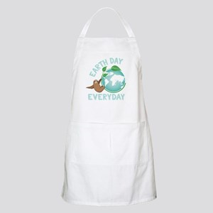 Earth Day Everyday Green Planet Sloth Light Apron