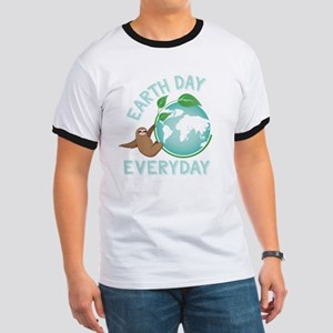 Earth Day Everyday Green Planet Sloth Eve T-Shirt