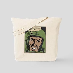 Vintage Comic Book Birthday 3/17 Tote Bag
