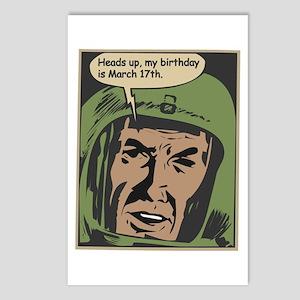 Vintage Comic Book Birthday 3/17 Postcards (Packag
