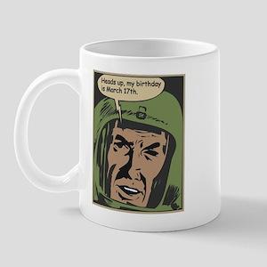 Vintage Comic Book Birthday 3/17 Mug