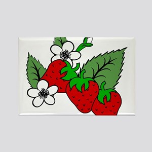 STRAWBERRIES (5) Rectangle Magnet