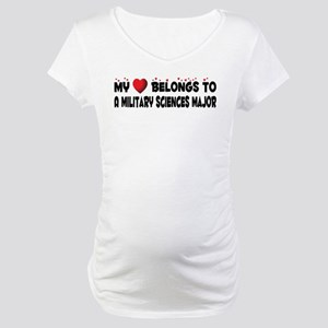 Belongs To A Military Sciences Major Maternity T-S