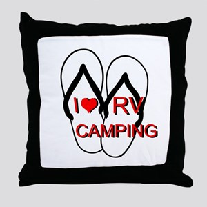 I LOVE RV CAMPING Throw Pillow