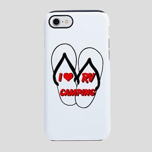 I LOVE RV CAMPING iPhone 8/7 Tough Case