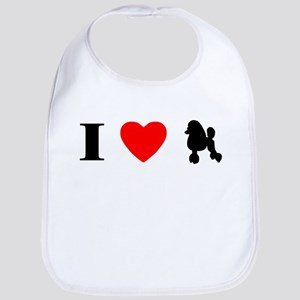 I Heart Poodle Bib