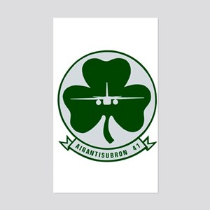 VS 41 Shamrocks Rectangle Sticker