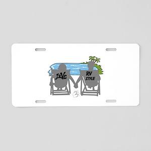LOVE RV STYLE Aluminum License Plate