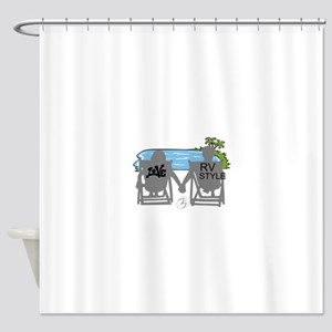 LOVE RV STYLE Shower Curtain