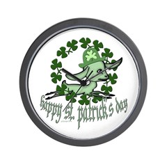 Happy St. Patrick's Day Goat Wall Clock