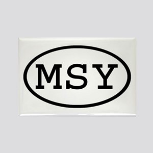 MSY Oval Rectangle Magnet