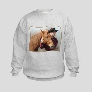 A Man and his Horse - Kids Sweatshirt