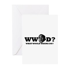 WW Obama D? Greeting Cards (Pk of 10)