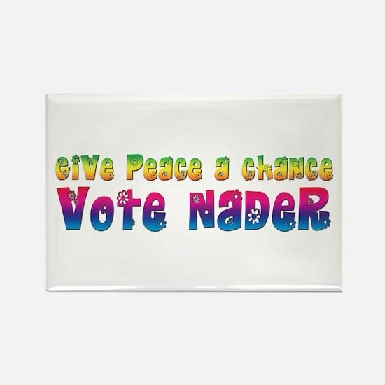 Nader for Peace Rectangle Magnet