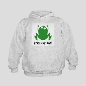 Froggy Girl Kids Hoodie