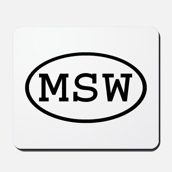 MSW Oval Mousepad