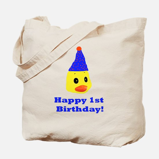 Happy 1st Birthday Tote Bag