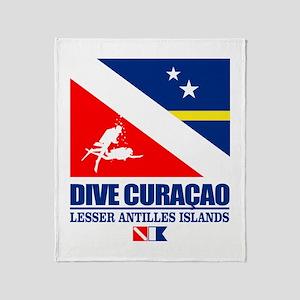 Dive Curacao Throw Blanket